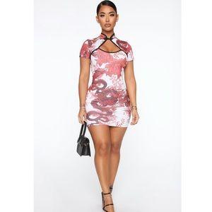 Fashion Nova When In Beijing Bodycon Mini Dress
